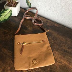 Joy Mangano Brown Camel Color Crossbody Bag NWOT
